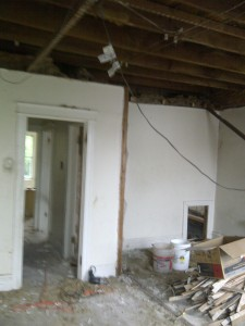 I also decided to remove the wall which separated two small rooms on the second floor.