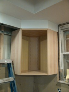 I lucked out on the soffit to corner cabinet measurement. Ikea's product information can also be a puzzle.